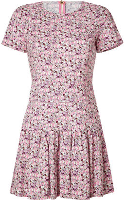 Juicy Couture Passion Pink-Multi Flower Print Dress