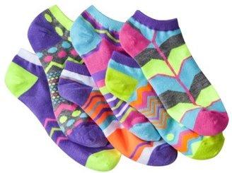 Xhilaration Juniors 6-Single Mix N' Match Low Cut Socks - Assorted Colors/Patterns One Size Fits Mo