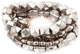 Vanessa Mooney Days of Old Bracelet Set in Silver