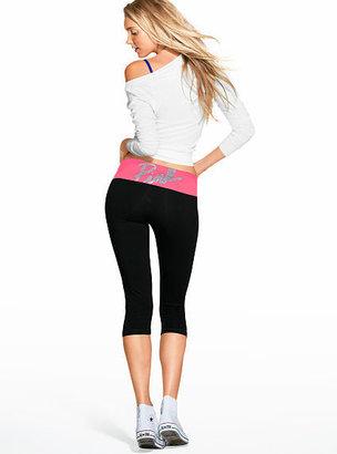 Victoria's Secret PINK Bling Yoga Crop Legging