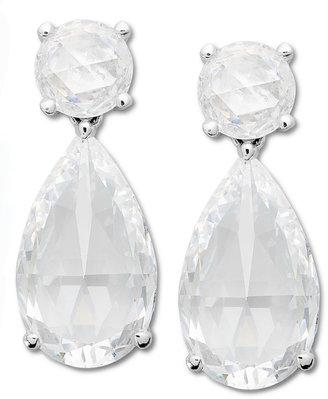 Arabella Sterling Silver Earrings, Swarovski Zirconia Drop Earrings (37-1/10 ct. t.w.)
