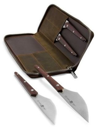 Zwilling J.A. Henckels Gentlemen's Steak Set with Leather Case, 4-Piece