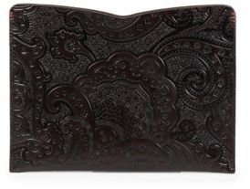 Robert Graham Thorston Paisley Leather iPad Sleeve $178 thestylecure.com