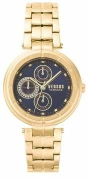 Versace Bellville Multifunction Stainless Steel Chronograph Bracelet Watch