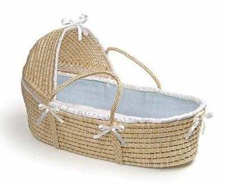 Badger Basket Hooded Moses Basket Color: Blue Waffle
