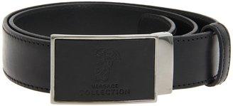 Versace Embossed Leather Buckle Belt