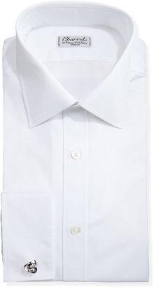 Charvet Solid Poplin French-Cuff Shirt