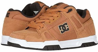 DC Stag (White/Black/White) Men's Skate Shoes