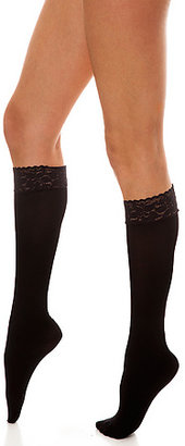 *Intimates Boutique The Black Floral Lace Top Knee Highs