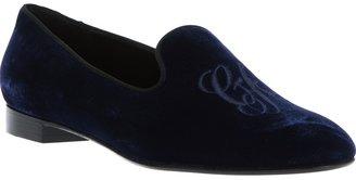 Giorgio Armani velvet slipper