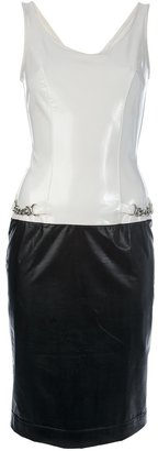 Paco Rabanne Vintage two-tone sleeveless dress