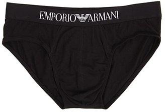 Emporio Armani Stretch Cotton Classic Brief (Black) Men's Underwear