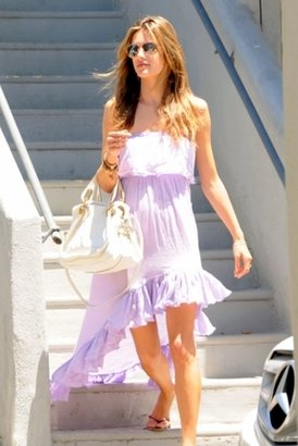 Jen's Pirate Booty Goddess Long Dress in Lilac $179 thestylecure.com