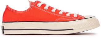 Converse Chuck 70 Orange Canvas Sneakers
