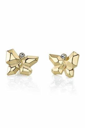 Belle Noel by Kim Kardashian 14KT Gold Butterfly Stud Earrings