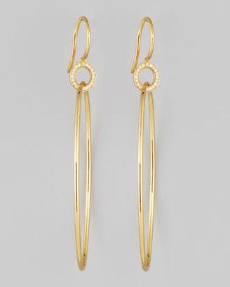 Ivanka Trump Signature Extra Small Yellow Gold Oval Diamond Drop Earrings
