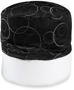 Bed Bath & Beyond Circle Jacquard Black Footstool Cover