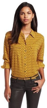 Vince Camuto Two by Women's Long Sleeve Chain Utility Shirt