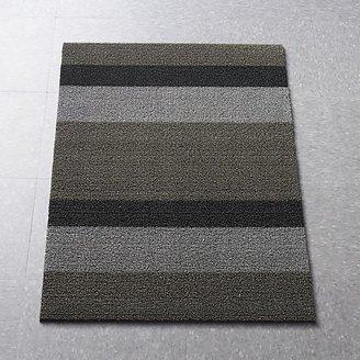 Chilewich Silver-Black Doormat.