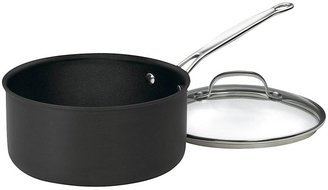 Cuisinart Chef's Classic Nonstick Hard Anodized 3 Quart Saucepan w/ Lid, Black