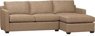 Crate & Barrel Davis 2-Piece Sectional Sofa (Right Arm Chaise, Left Arm Apartment Sofa) in Darius: Mink