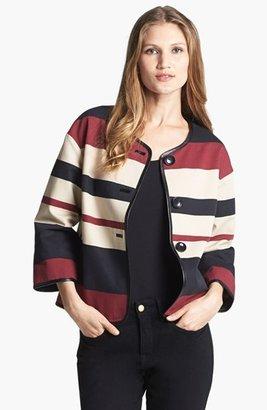 Adrianna Papell 'Boyfriend Stripe' Swing Jacket