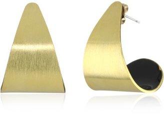 """Dean Davidson """"INNER BEAUTY"""" Gold with Black Enamel Inner Beauty Petal Earrings"""