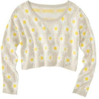 Xhilaration Junior's Daisy Cropped Sweater - Assorted Colors