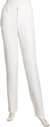 Nanette Lepore Narrow Straight-Leg Pants, White