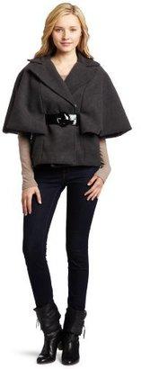 Amy Byer A. Byer Juniors Melton Cape Water Resistant Jacket