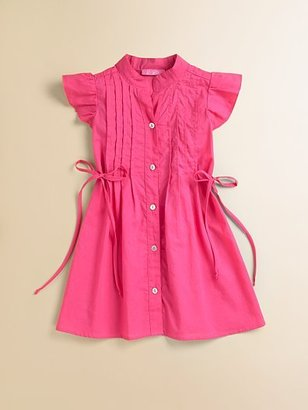 Le Pink Girl's Pin-Tucked Shirtdress
