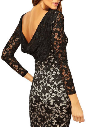 ChicNova Lace Bodycon Dress with Draped Back