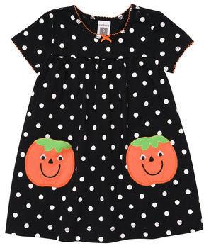 Carter's Pumpkin Polka Dot Dress Set