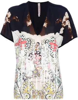 Antonio Marras printed v-neck t-shirt