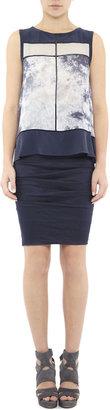 Nicole Miller Sandy Cotton Metal Skirt