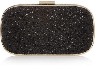 Anya Hindmarch Marano glitter-finished box clutch
