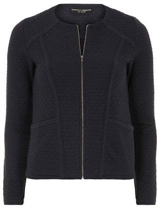 Dorothy Perkins Navy quilted zip jacket