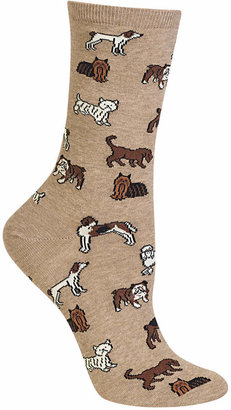 Hot Sox Women's Dogs Trouser Socks