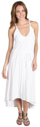 AG Adriano Goldschmied Slub Jersey Tunneled Asymmetric Dress (White) - Apparel