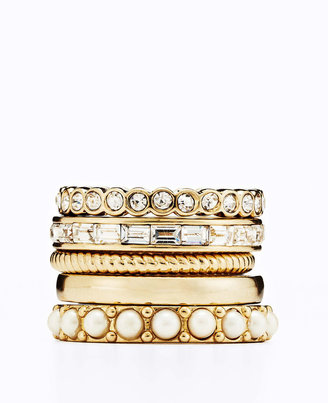 Ann Taylor Modern Classic Ring Set