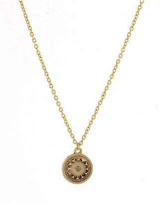 House Of Harlow Small Sunburst Pendant Necklace with Pave