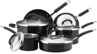 Rachael Ray 10-pc. Stainless Steel Cookware Set, Black