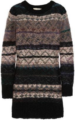 Vanessa Bruno Fair Isle mohair-blend sweater dress