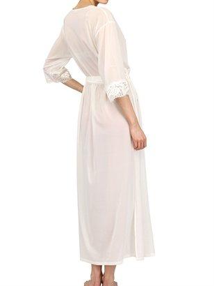 La Perla Silk Lace And Silk Georgette Robe