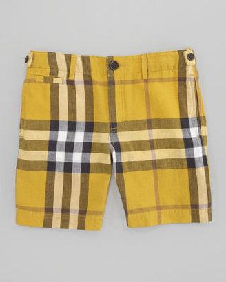 Burberry Mini Workwear Check Short, Gorse Yellow