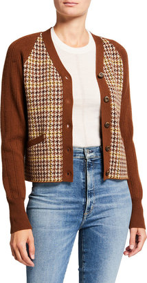 RE/DONE '60s Slim Houndstooth Cardigan