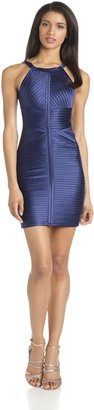 BCBGMAXAZRIA Women's Diana Fitted Dress with Strapping