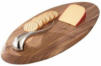 "Nambe ""Swoop"" Cheese Board & Knife"