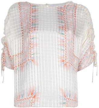 Chloé boxy drawstring blouse