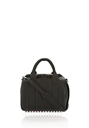 Alexander Wang Rockie In Ruberized Black With Iridescent